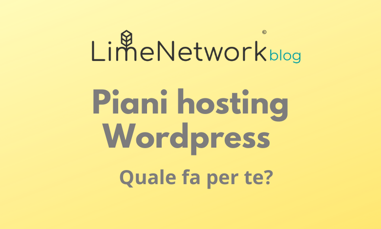 piani hosting wordpress