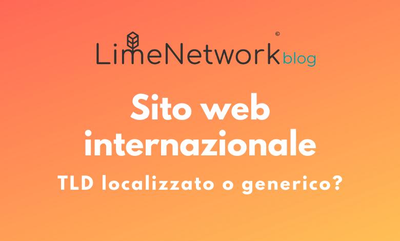 sito web internazionale